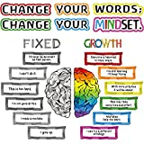 Package includes: 22 pieces growth mindset posters with 60 pieces glue points dots, each positive sayings accents is about 11.9 x 6.7 inches (W x H), suitable for kids bedroom, nursery room, playroom, classroom, living room and so on, also can be as ...