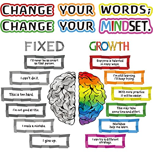 22 Pieces Growth Mindset Posters Bulletin Board Positive Sayings...