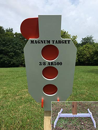 AR500 Steel Target 3/8' Zipper Hostage Reactive Dueling Tree Shooting 2x4 Stand New