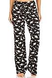 Leggings Depot PJ10-S767-M Dinosaur World Print Pajama Pants, Medium
