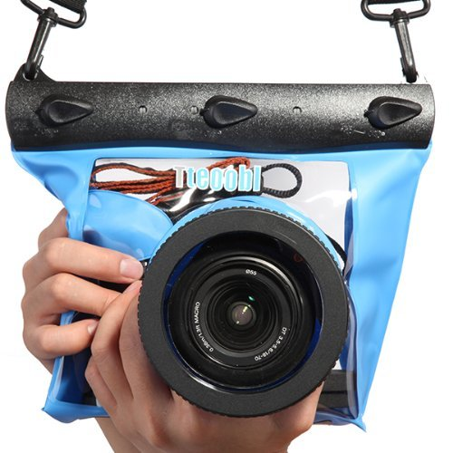 Tteoobl Blue Waterproof Bag Pouch Case Cover for SLR DSLR Camera Canon 600D 40D 60D 7D 5D, Nikon D80 D90 D700 D5100 7000 (Camera is not Included)
