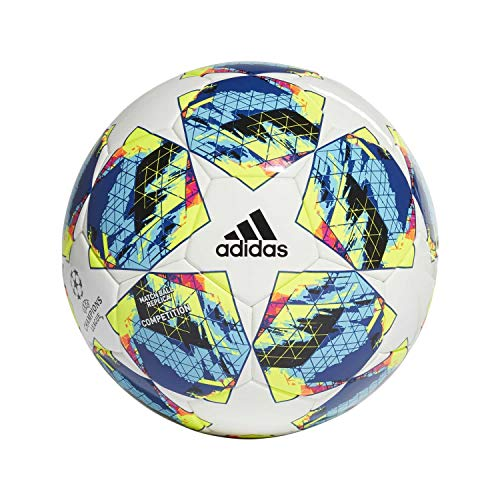 adidas Jungen Finale COMP Turnierbälle für Fußball, top:White/Bright Cyan/solar Yellow/Shock pink Bottom:Collegiate royal/Black/solar orange, 5