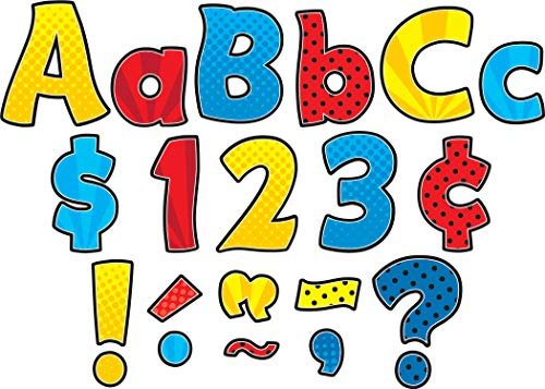 """Teacher Created Resources Superhero Funtastic 4"""" Letters Combo Pack (5845)"""