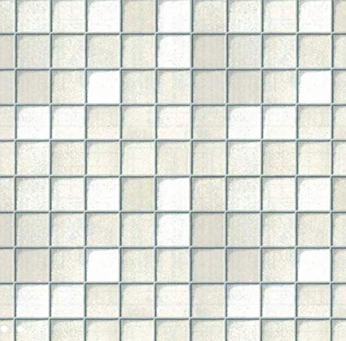 Klebefolie - Möbelfolie Fliesen Look weiss Dekorfolie 45 cm x 200 cm Selbstklebende Folie mit Mosaik Dekor - Selbstklebefolie