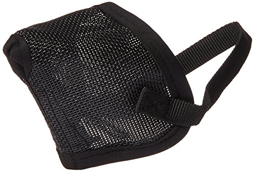 Pro Guard Mesh Dog Muzzle for Short Nose - Flat Faced Dogs, (Pug Muzzle) one Size Fits All