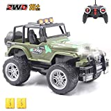 CISAY Rc Cars,6062 Remote Control Car,1/18 Scale 15km/h,2.4Ghz 2WD Convertible Buggy,with Car Light and 2 Rechargeable Batteries,Give The Child Best The Gift (Camouflage)