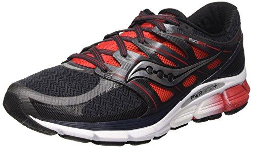 Saucony Men's Zealot ISO Road Running Shoe, Red/Black/Silver, 9.5 M US