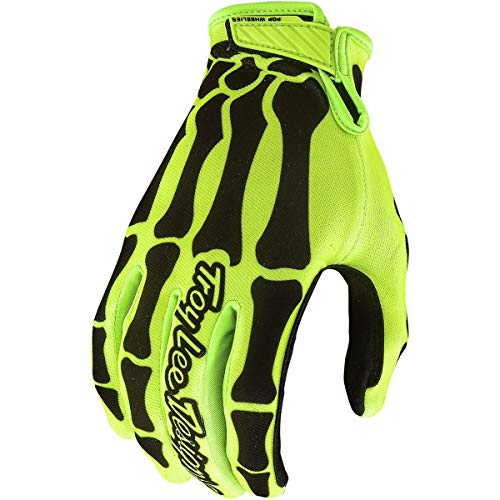 Troy Lee Designs Air Skully Men's Off-Road Motorcycle Gloves - Yellow/Black/Medium