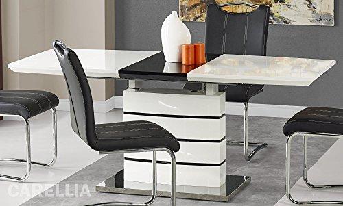 CARELLIA Table A Manger Extensible Finition Laque 140÷180 CM x 80 CM x 76 CM