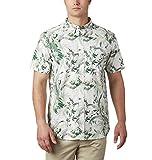 Columbia Men's Rapid Rivers Short Sleeve Shirt, Thyme Green Magnolia Floral Print, Medium