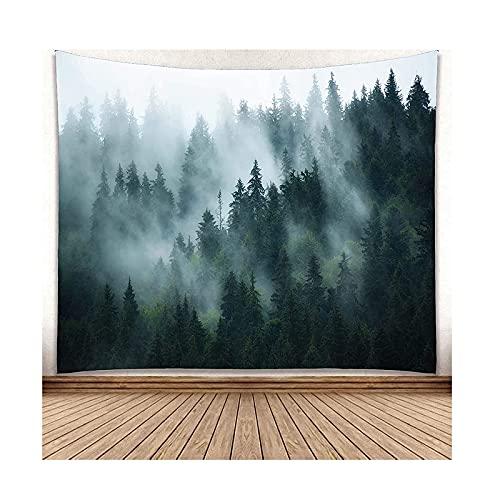 Sala de estar quarto de parede tapete, parede pendurado nevoeiro floresta montanha parede arte decoração tapete tapete floresta paisagem paisagem tapete tapete para dormitório sala de estar casa