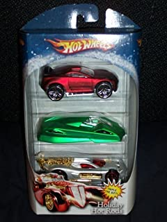 Hot Wheels 2007 Holiday Hot Rods Target Exclusive 3 Pack Drift Tech / Shadow Jet II / Spine Buster