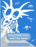 Handwriting Practice Paper Styracosaurus: Fun Dinosaur Themed 150 Page Dotted Lined Notebook For Kids