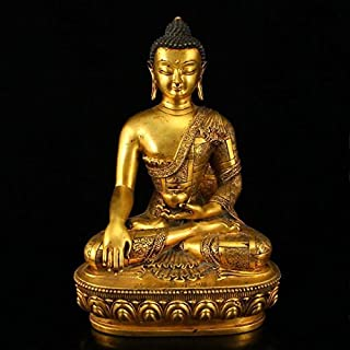 Quan Rong Gallery China Ming Dy Gilt Gold Bronze Siddhartha Buddha Statue