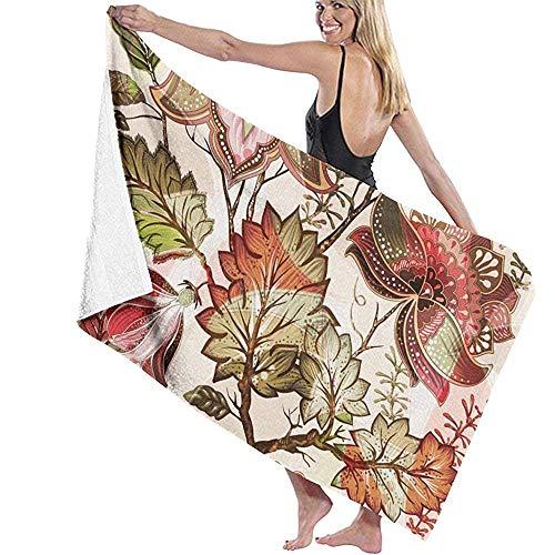 Beyond Loser Vintage Flowers Floral Provence Flower Nature 1 Poliéster Toalla De Playa Silla Gruesa Suave Secado Rápido Ligero Absorbente Toallas Manta,130X80 CM