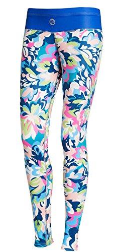 Nessi Collant de Course longue Leggings oslk Fitness Pantalon Respirant Blue Garden, 22 Bluegarden