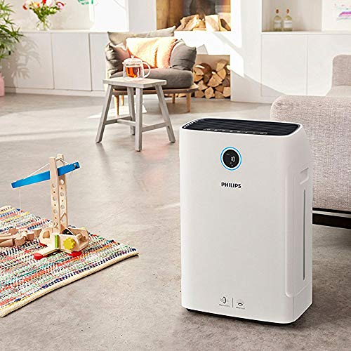Philips Series 3000I 2-in-1 Air Purifier & Humidifier, Removes 99.97% Allergens & Relieves Dry Air Discomfort, AC3829/60, 0 Litre, 1 Watt, White