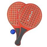 Racchetta da Spiaggia ,Racchette Beach Tennis, Per Parco o Giardino, Spiaggia , in legno (rosso)