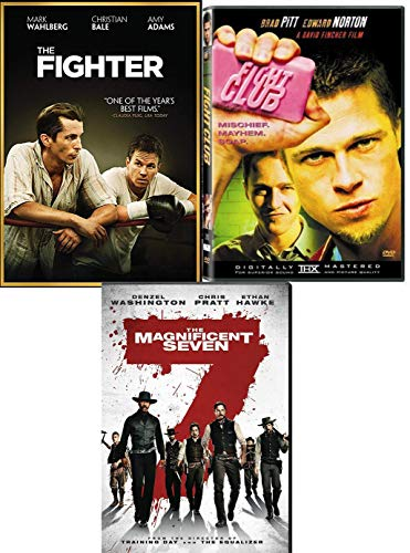 Men Sweat Fighting Boxing Riding The Fighter & Fight Club + Western 2016 Magnificent Seven Denzel Washington DVD Movie