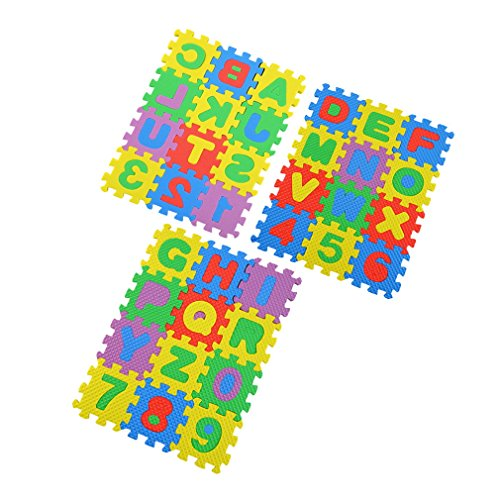 Kleurrijke puzzel Kid educatief speelgoed AZ Alfabetletters Cijfer schuimmat Multi-Color