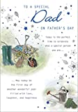 Traditional Father's Day Card Dad - 10 x 7 inches - Piccadilly Greetings