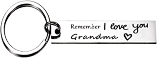 Remember I Love You Best Keychain Jewelry Gift Idea for Her Him Friend and Family Member (Grandma)