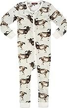 MilkBarn Organic Cotton Infant Zipper Pajama, Goats