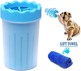 Haigivesoon Portable Dog Paw Cleaner Medium Dog Paw Washer Pet Cleaning Brush Cup Dog Foot Cleaner Dog Foot Washer