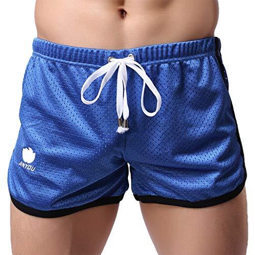 Pantalones Cortos para Hombre Malla Cómodo Transpirables Fitness Entrenamiento Correr Gimnasio Secado rápido Deportivos Casuales Deportivos Casuales Cortos de Verano MMUJERY