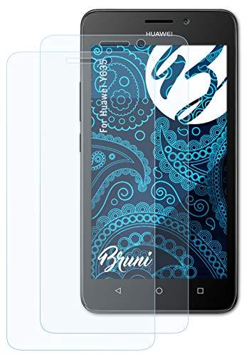 Bruni Schutzfolie kompatibel mit Huawei Y635 Folie, glasklare Bildschirmschutzfolie (2X)