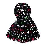 HUNOL Bufandas Fulares Mujer Fiesta,Estolas Suave Impresión Copo...