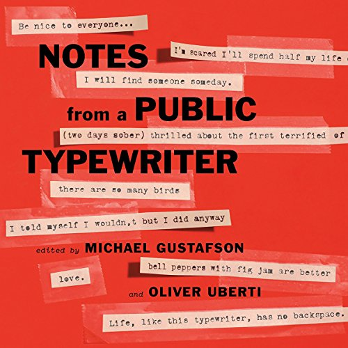 Notes from a Public Typewriter audiobook cover art