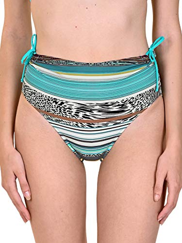 Lisca 41423-T6 Women's Freetown Green Turquoise Bikini Bottom Large