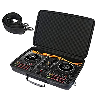 Khanka Hard Carrying Case for Pioneer DJ DDJ-200 Smart DJ Controller and cables.(Case only)