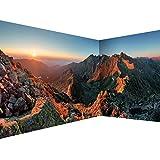 decomonkey Fototapete Landschaft Natur 550x250 cm Eckfototapete Design Tapete Fototapeten Tapeten Wandtapete moderne Wand Schlafzimmer Wohnzimmer Berge Gebirge