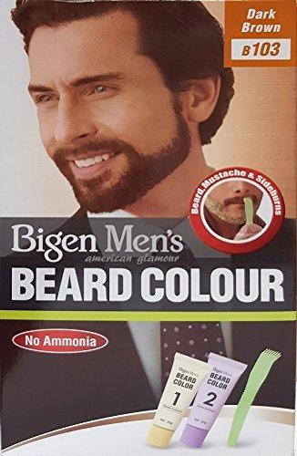 Bigen Men's Beard Colour - Bartfarbe Dark Brown - Dunkel Braun 103