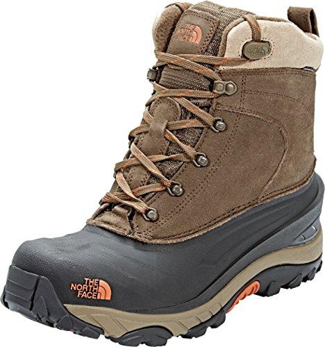 The North Face Chilkat III, Chaussures de Randonnée Hautes Homme, Marron (Mudpack Brown/Bombay Orange Yva), 46 EU
