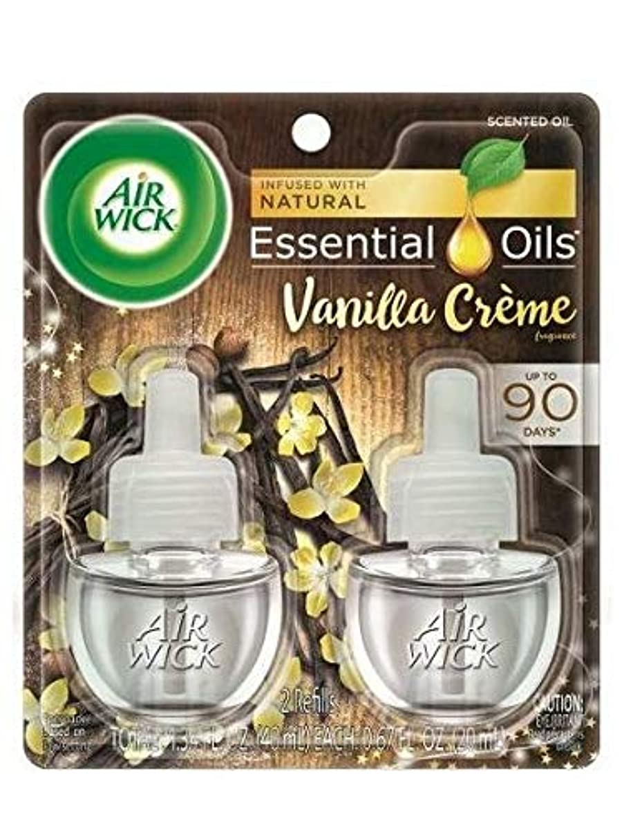 ビジタードナートランクライブラリ【Air Wick/エアーウィック】 プラグインオイル詰替えリフィル(2個入り) バニラクリーム Air Wick Scented Oil Twin Refill Vanilla Creme (2X.67) Oz. [並行輸入品]