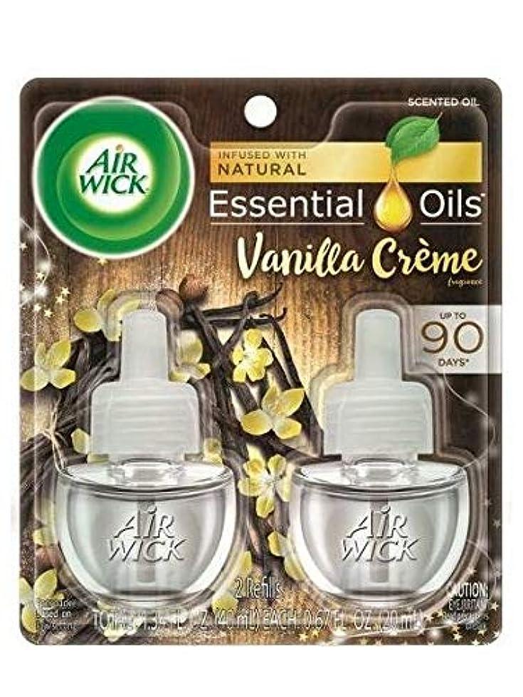 領事館制約ノベルティ【Air Wick/エアーウィック】 プラグインオイル詰替えリフィル(2個入り) バニラクリーム Air Wick Scented Oil Twin Refill Vanilla Creme (2X.67) Oz. [並行輸入品]