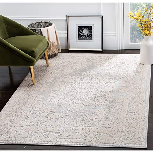Safavieh Reflection Collection RFT664C Light Grey and Cream Area Rug (8' x 10')