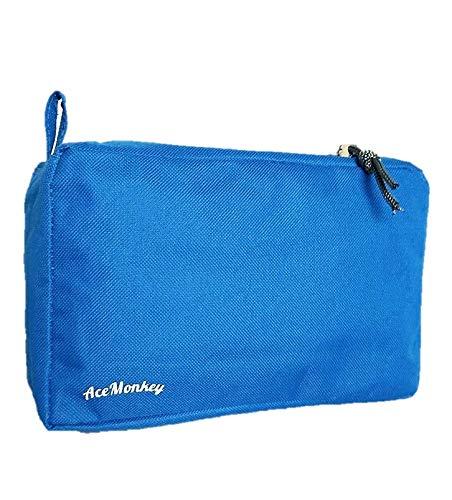 Neceser Hombre Mujer Pequeño Impermeable Neceser Reciclable Ecológico Bolsa de Aseo Viaje Neceser Aseo Neceseres Hombre Viaje Neceser Colores Neceser Maquillaje Mujer Neceser Baño (Azul)