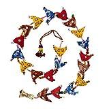 Tota de 20 petits oiseaux suspendus - décoration Indienne - commerce équitable 85 cm