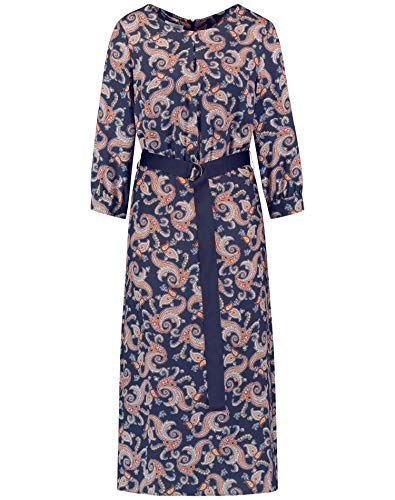 Gerry Weber Damen Kleid mit Paisleyprint figurumspielend, tailliert Navy Sienna Druck 42
