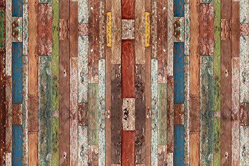 VINILIKO Industrial Wood Alfombra de Vinilo, Multicolor, 133x200