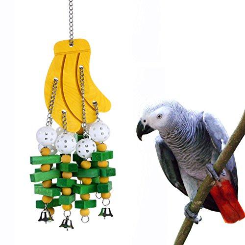 KINTOR Vogel Kauwen Speelgoed Grote Medium Papegaai Cage Bite Speelgoed Afrikaanse Grijs Macaws Cockatoos Eclectus Amazon