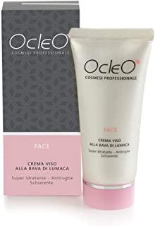 Ocleò Crema facial con baba de caracol hidratante antiarrugas aclarante 50 ml