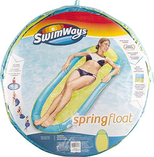 SwimWays Spring Float Original, einfach auffaltbare Wasserhängematte, farblich sortiert