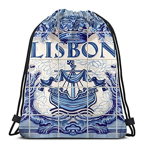 Portugal Lisboa Lisboa Unisex Fútbol Natación Deportes Gimnasio Zapatos de viaje Mochila...
