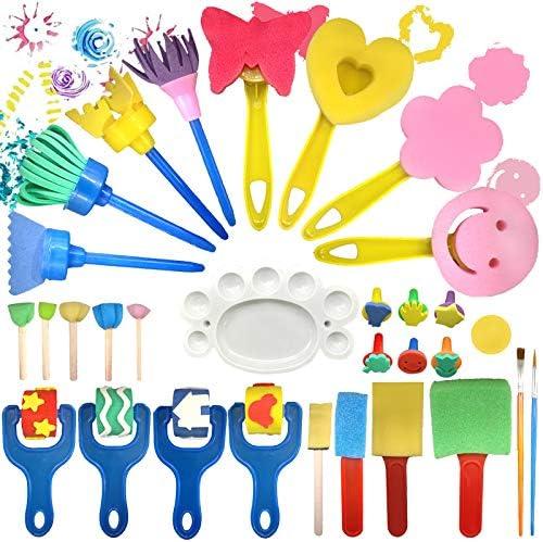 Finger Paint Sponges for Kids Sponge Painting Brushes Set Toddler Paint Set Paint Set for Kids product image