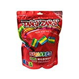 Tangy Zangy Bite Size Sour Squars Gummy Candy 8oz (Sour Wildfruit)